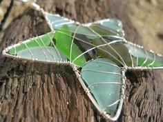 Green and Blue Hawaiian Sea Glass Star Ornament and Sun Catcher. $27.00, via Etsy.