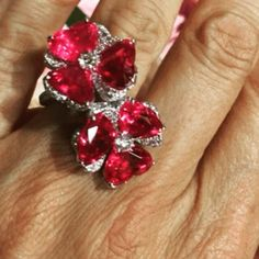 Giampiero Bodino.  Via The Jewellery Editor. Flowers seem to be so now from Paris Couture Week... How about these ruby stems from @giampierobodino   #flowers #ruby #diamonds #ring.