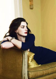 Anne Hathaway. I can't stop thinking about the song she sang in Les Mis. It makes me tear up every time...