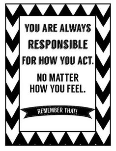 """Motivational quotes to inspire students to have a good attitude and keep trying. I use them for a """"calm down"""" corner in my room to help students think about their choices. Included 8 signs: --""""Life is 10% of what happens to me and 90% of how I react"""" --""""Don't let what you cannot do interfere with what you can do"""" --""""A person who never made a mistake never tried anything new"""" --""""You have to expect things of yourself before you can do them."""" --""""Anyone can do something they want to do."""
