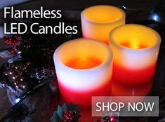 Battery Powered LED Flameless Candles in variety of sizes and types! Led Candle Lights, Flameless Candles, Tea Light Candles, Pillar Candles, Cool Glow, Classic Candles, Emergency Power, Candle Shop, Candle Making