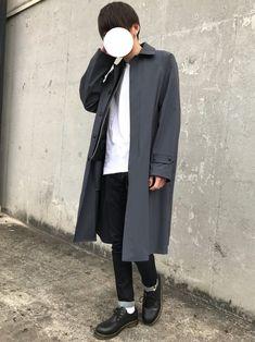 【Today's コーデ】 ・ステンカラーコートコーデ 今日は寒すぎてスプリングコートとライダースで