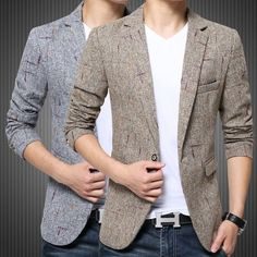 >> Click to Buy << Vintage Fancy Suit Jacket For Men British Style Blaser Masculino Slim Terno Masculino Mens Formal Blazer Khaki Gray 3XL 4XL 5XL #Affiliate
