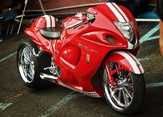 Turbo Hayabusa - Harley's & More - Hyabusa Motorcycle, Suzuki Motorcycle, Moto Bike, Custom Street Bikes, Custom Sport Bikes, Custom Motorcycles, Harley Davidson Trike, Futuristic Motorcycle, Biker Boys