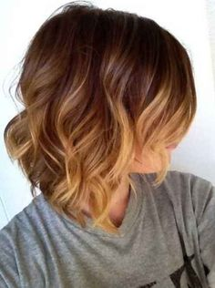 short ombre hair brown to blonde