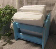 Lovely, Light Blue-Aqua, Napking Holder, Solid Wood, Cottage Chic, French Country, Beach Cottage, Country Farmhouse, Upcylced by ClassicMontage on Etsy