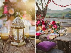 boho gypset tablescape | LOVING these rich colours...makes me want to go with magenta and gold!