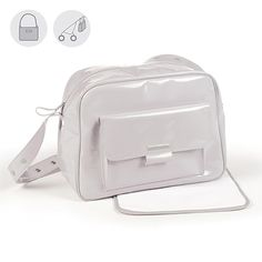 051214140 Bolsa canastilla o bolso para silla de paseo Tweed Baby en charol gris con  logo de