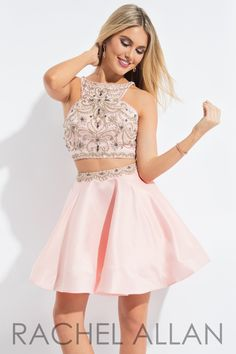 Rachel Allan 4135 Blush Homecoming Dress