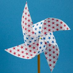 Pinwheel made with double-side paper