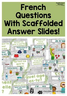 French as a Second Language FSL Conversation Prompts Learning French For Kids, French Language Learning, How To Speak French, Learn French, French Conversation, French Flashcards, French For Beginners, Classroom Routines, Classroom Language