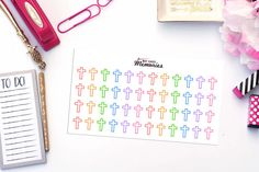 CROSS / FAITH Paper Planner Stickers by MayCauseMemories on Etsy