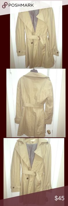 Trench coat- Kenar Beautiful classic trench coat- like new-- feel free to make me offers Kenar Jackets & Coats Trench Coats