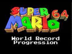 """""""Super Mario 64 - 120 Stars"""" World Record Progression"""