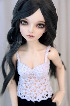 This is an outfit for 40-43 cm MSD bjd dolls.  Crocheted lacy top, sleveeless shirt, tank top. Modeled by Minifee large bust A-line body (MNF 16,5-18cm size - fits also glamour bust Moe body)  Available sizes vary from 14,5cm up to 18,5cm in chest circumference. Can be made for Minifee large, small and cutie bust, Unoa (both busts) Various colors available HERE: https://www.etsy.com/shop/frezje?ref=hdr_shop_menu&section_id=10585728 If there is no color you wa...