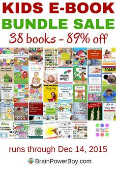 Get an awesome deal on this 38 book kids e-book bundle. This is a one time sale that ends December 14th. Save over 89% off the retail prices of these wonderful books. Don't miss it! You are going to love the books and printables included in this one!