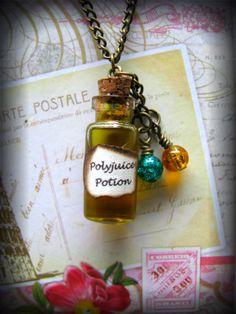 Handmade Harry Potter Themed Polyjuice Glass Bottle Necklace. £4.99, via Etsy.