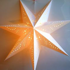 Paper Star Lantern Decoration (Frosted White Glitter Star) - Perfect for Weddings, Christmas Holiday Birthday Party Celebration & Home Decor Paper Star Lights, 3d Paper Star, Paper Star Lanterns, Lanterns Decor, Paper Stars, Paper Lantern Chandelier, Led Lantern Lights, Hanging Star Light, Star Lamp