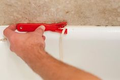 How to Remove Caulk. Old and pealing caulk or just a bad caulk job not only look bad but can allow water to seep behind tile and walls. We recommend maintaining caulk around tiles, tub & shower enclosures, sinks, toilets, and windowns to prevent water leak damage to adjacent furnishings. It's a simple DIY fix that can save you hundreds in repairs later!