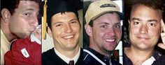 A few of the Flight 93 heroes. [Family photos via AP] From left to right: Jeremy Glick, Mark Bingham, Todd Beamer, and Tom Burnett. We Will Never Forget, Lest We Forget, We Remember, Always Remember, 911 Twin Towers, Worst Day, United Airlines, Real Hero, September 11