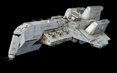 Project from last year. Idea for an assault ship, inspired by the Acclamator…