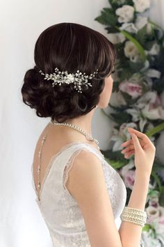 Nice hair piece Bridal Hairdo, Bridal Comb, Wedding Headband, Hair Comb Wedding, Wedding Hair Pieces, Bridal Headpieces, Pearl Bridal, Wedding Veils, Gold Wedding
