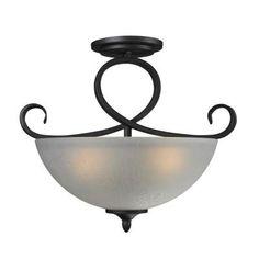 Tulen Lawrence 3-Light Cafe Bronze Incandescent Ceiling Flush Mount-CLI-JB603SF - The Home Depot