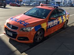 https://flic.kr/p/v8iFRW | HNQ 341 | 2014 Holden Commodore VF SV6.  This is an orange example of a highway patrol vehicle and is based in the South Canterbury area, operating out of the Timaru station.