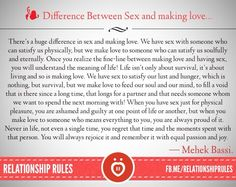 Difference between sex and making love