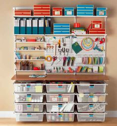 Looking for a little inspiration to set up a fabulous craft space? These 40 Stunning Craft Room Cabinets Decor Ideas and Design are going to get you started on designing a great craft area in your home… Continue Reading → Craft Storage Solutions, Craft Room Storage, Craft Organization, Craft Rooms, Storage Systems, Storage Ideas, Pegboard Craft Room, Magazine Organization, Pegboard Organization