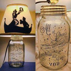 DIY mason jar lamps #Disney