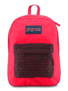 The all new JanSport High Stakes Backpack in Black Laser Lace.