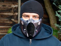 Mortal Kombat Sub-Zero v1 Logo Airsoft Cosplay mask - Made to order -