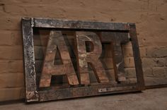 Industrial ART sign - yes! Industrial Signs, Vintage Industrial Decor, Industrial Living, Industrial Chic, Instalation Art, Sell My Art, Creative Thinking, Interior Exterior, Eclectic Decor