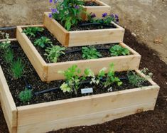 Raised Bed Garden Frame Plan by VerduraGardens on Etsy