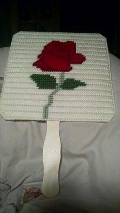 Handheld fan (rose) $5