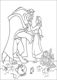 Belle en het Beest Kleurplaten voor kinderen. Kleurplaat en afdrukken tekenen nº 33