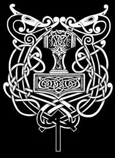 So I heard you love the Vikings! Pagan Tattoo, Norse Tattoo, Celtic Tattoos, Viking Designs, Celtic Designs, Norse Pagan, Norse Mythology, Theme Tattoo, Viking Warrior