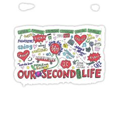 """Our2ndlife Shirts   Our Second Life Collage"""" Stickers by samonstage   Redbubble"""