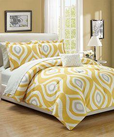 Yellow Brooklyn Eight-Piece Bedding Set