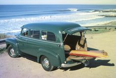 suburban chevrolet | 1951 Chevrolet Suburban, A day at the beach with my 1951 Carryall with ...