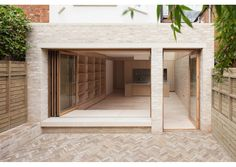 Architecture studio Erbar Mattes added this limewashed brick and glass extension to a house in London, creating a bright and spacious living area Brick Extension, Glass Extension, Edwardian Haus, Mid Terrace House, Architecture Résidentielle, Brick And Wood, Floor Layout, Brick Patios, House Extensions