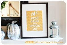 """Keep Calm and Spook On"" Poster @ www.thecraftingchicks.com"