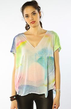 The Neon Wave Logan Tee in Multi Color XS|S
