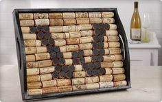 Wine Corks -- I like the letter mixed in.