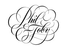 Phil & Toby lettering by Ryan Hamrick