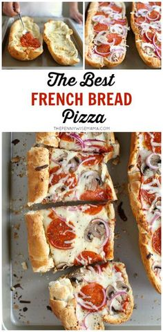 Excellent The BEST French Bread Pizza! So simple and delicious. Your kids will love making their own! The post The BEST French Bread Pizza! So simple and delicious. Your kids will love making their own! appeared first on Lully Recipes . Pizza Recipes, Cooking Recipes, Recipes Dinner, Easy Recipes, Easy Cooking, Healthy Cooking, Delicious Recipes, Cleaning Recipes, Cooking Games