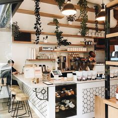 If you are a coffee lover, the best DIY Coffee Bar Ideas are here to inspire you coffee altar, your coffee worshiping game changes now! Restaurant Interior Design, Modern Restaurant, Shop Interior Design, Cafe Design, Cafe Restaurant, Coffee Cafe Interior, Cute Coffee Shop, Coffee Shop Bar, Coffee Shop Design