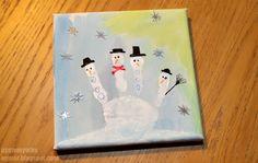 PynteMynthe og Mor: Jule maleri // Kreativ Julekalender #20