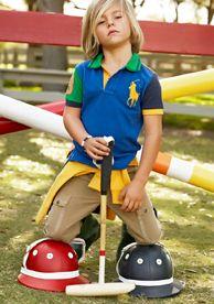 RL Instant Style: Ralph Lauren Childrenswear Bold Colorblock Polo & Ripstop Cargo Pants #belk #kids